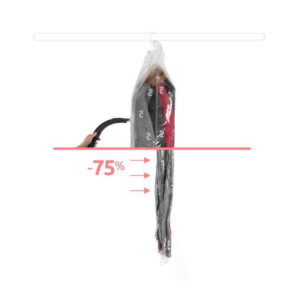 COMPACTOR  Vakuum Aufbewahrungstasche zum Aufh/ängen Transparent Gr/ö/ße L RAN7431 Espace Plus